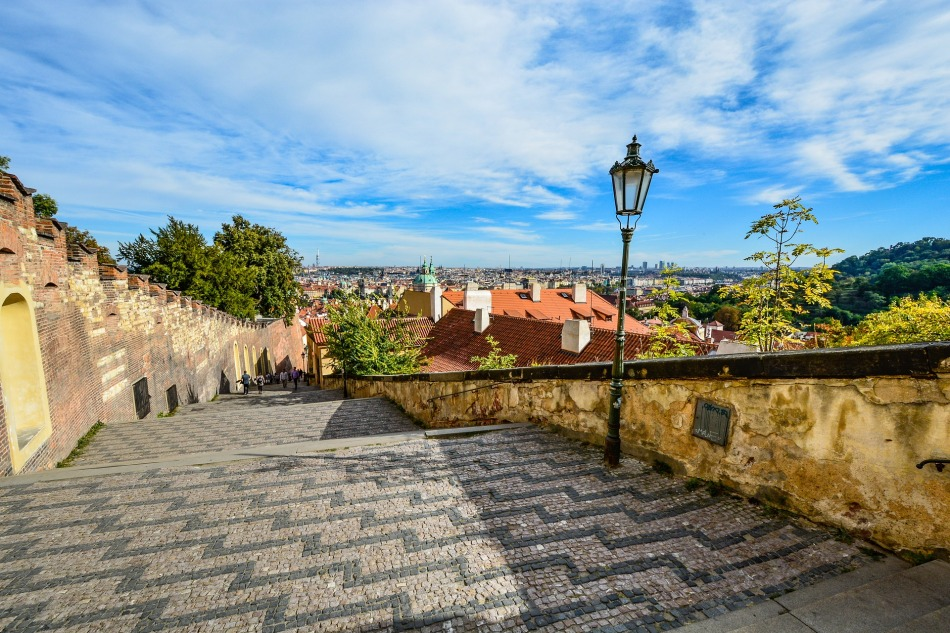 The Prague Castle offers one of the most beautiful views of the Czech capital