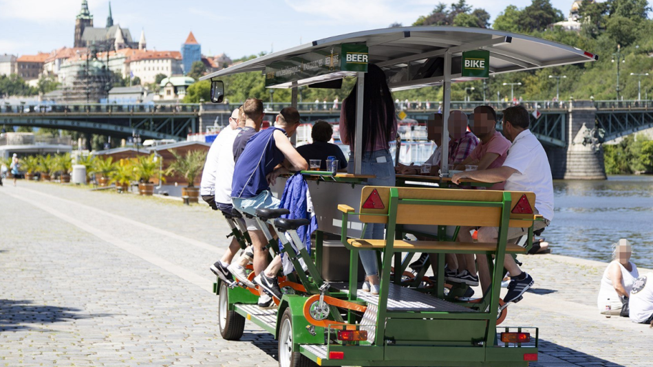 Prague was forced to postpone a ban on beer bikes