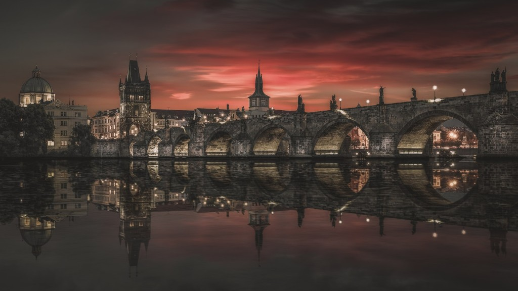 Two vandals were arrested for creating a graffiti on the Charles Bridge