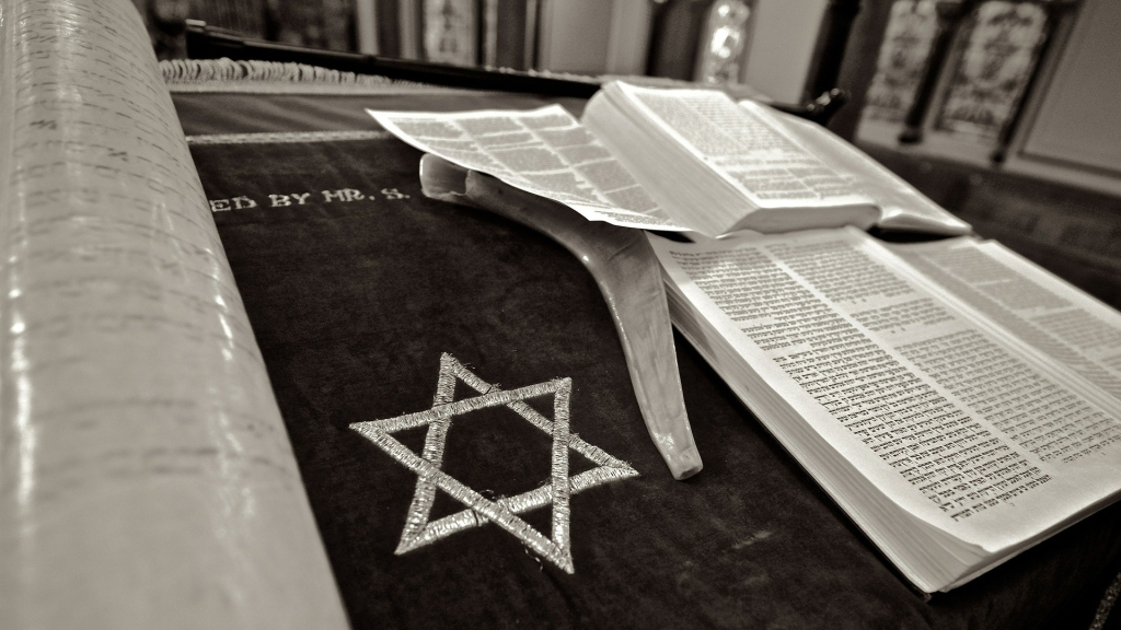 Star of David in a Jewish synagogue in Czech Republic